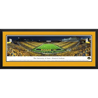 Blakeway Worldwide Panoramas Iowa Hawkeyes Football End Zone Stripe Framed Print