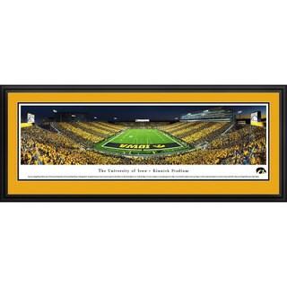 Blakeway Worldwide Panoramas Iowa Hawkeyes Football End Zone Stripe Framed Print