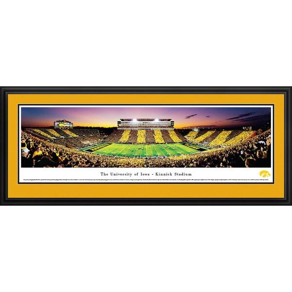 Blakeway Panoramas 'Iowa Football Spirit Week Stripe' Framed Print