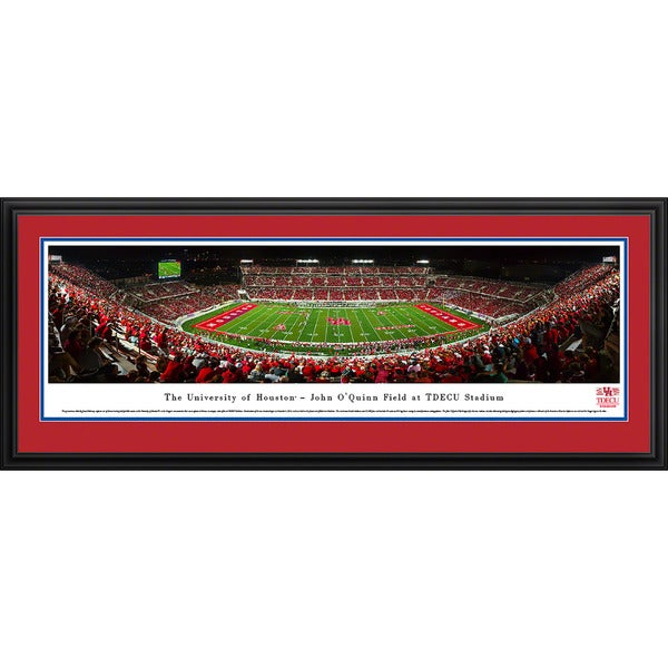 Blakeway Panoramas University Of Houston Football Framed Print