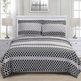 Superior Sutton Premium Cotton Reversible Print Duvet Set