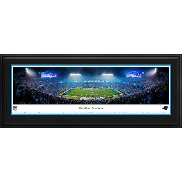 Blakeway Worldwide Panoramas Carolina Panthers 50-yard Line Night Game Framed NFL Print