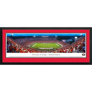 Blakeway Panorama 'Georgia Football 50 Yard Line' Framed Print