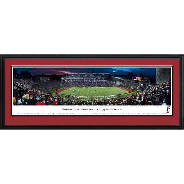 Blakeway Panoramas Cincinnati Football Tempered Glass Framed Print