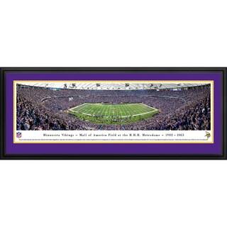 Blakeway Panoramas 'Minnesota Vikings - 50 Yard Line - Finale' Framed NFL Print