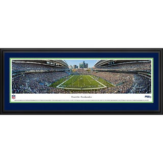 Blakeway Worldwide Panoramas Seattle Seahawks End Zone Framed NFL Print