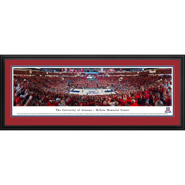 Blakeway Panoramas Arizona Wildcats Basketball Arena Multicolored Framed Print