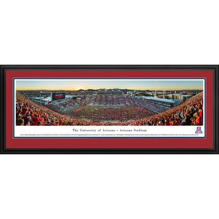 Blakeway Panoramas 'Stripe' Arizona Football Framed Print