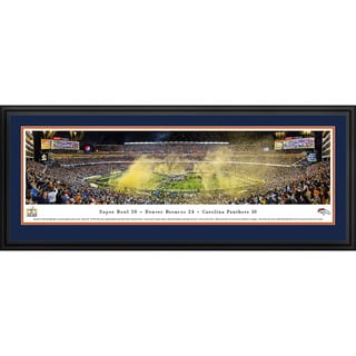 Blakeway Panoramas Denver Broncos Championship at Super Bowl 50 Framed Panoramic Print
