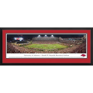 Blakeway Panoramas '50 Yard Line' Arkansas Football Framed Print