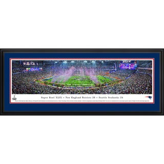 Blakeway Panoramas Super Bowl 2015 New England Patriots Champions Framed NFL Print