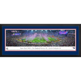 Blakeway Panoramas Super Bowl 2015 New England Patriots Champions Framed NFL Print (3 options available)