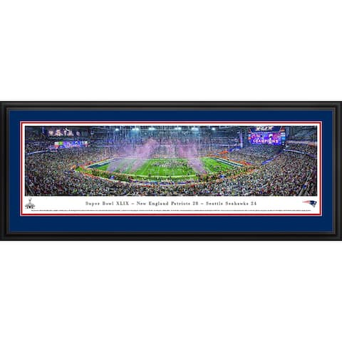 Super Bowl 2015 New England Patriots Champions Framed NFL Print