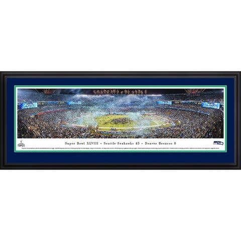 Super Bowl 2014 Seattle Seahawks Champions Framed NFL Print