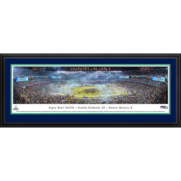 Blakeway Panoramas 'Super Bowl 2014 Seattle Seahawks Champions' Framed NFL Print