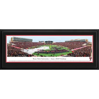 Blakeway Panoramas Texas Tech Football Stadium Multicolored Framed Print