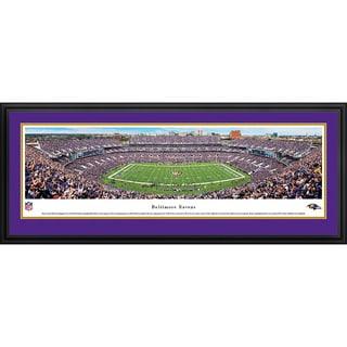 Blakeway Panoramas Baltimore Ravens 50 Yard Line Framed NFL Print