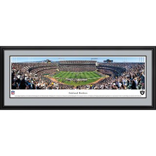 Blakeway Worldwide Panoramas Oakland Raiders Oakland-Alameda County Coliseum 50-yard Line Framed NFL Print