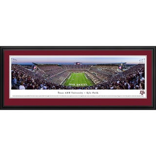 Blakeway Panoramas Texas A&M Football End Zone Framed Print