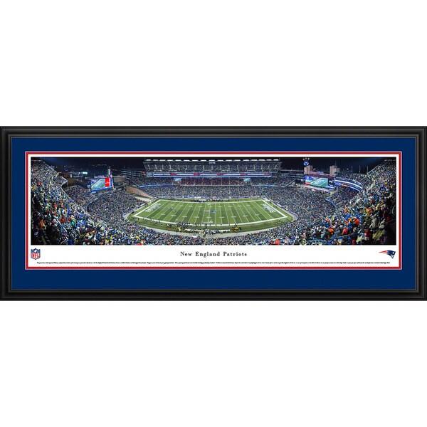 Blakeway Panoramas New England Patriots '50 Yard Line Night Game' Framed NFL Print