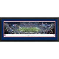Blakeway Panoramas New England Patriots '50 Yard Line Night Game' Framed NFL Print