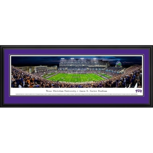 Blakeway Panoramas TCU Football End Zone Panoramic Framed Print