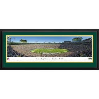 Blakeway Panoramas 'Green Bay Packers 50 Yard Line at Lambeau' Framed NFL Print