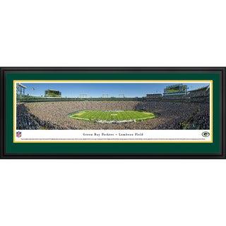 Blakeway Panoramas 'Green Bay Packers 50 Yard Line at Lambeau' Framed NFL Print
