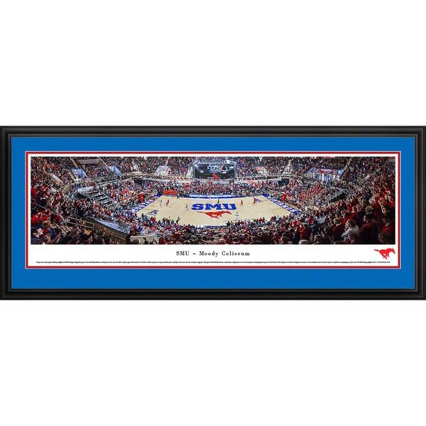 Blakeway Panoramas 'SMU Mustang Basketball' Framed Print