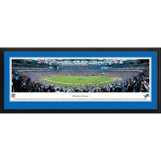Blakeway Panoramas Detroit Lions '50 Yard Lion' Framed NFL Print