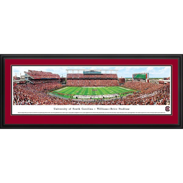 Blakeway Panoramas '50 Yard Line' South Carolina Football Framed Print