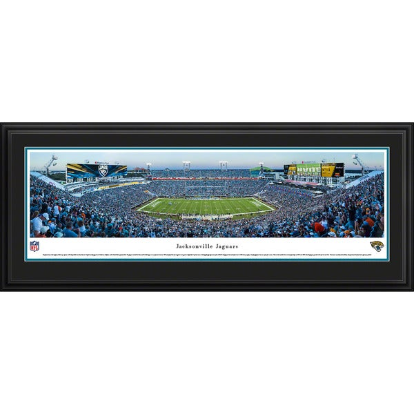 Blakeway Worldwide Panoramas Jacksonville Jaguars 50-yard Line Framed NFL Print