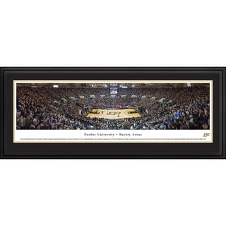 Blakeway Panoramas Purdue Boilermakers 'Black Out' Framed Print