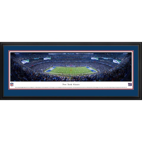 Blakeway Panoramas New York Giants '50 Yard Line' Framed NFL Print