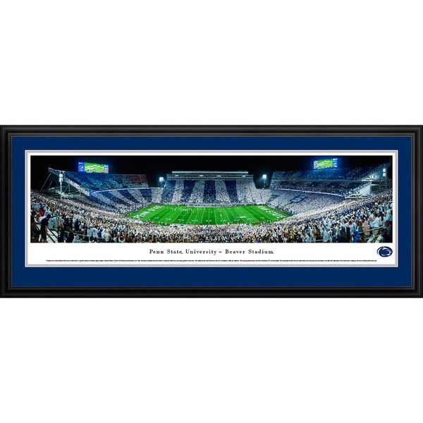 Blakeway Panoramas Penn State Football 'Stripe' Framed Print