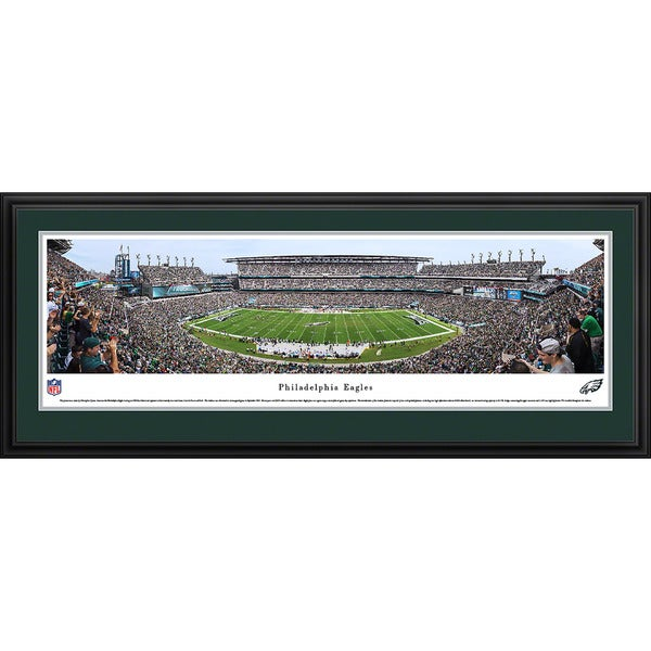Blakeway Panoramas Philadelphia Eagles '50 Yard Line' Framed NFL Print