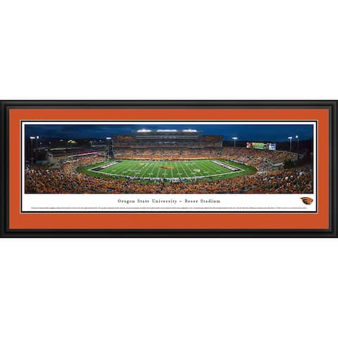 Blakeway Panoramas Oregon State Football Framed Print