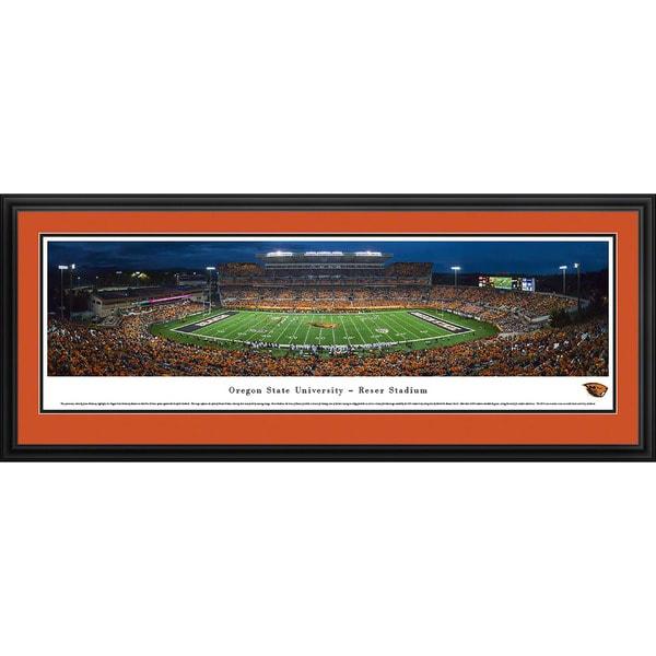 Blakeway Panoramas Oregon State Football 'Civil War' Framed Print