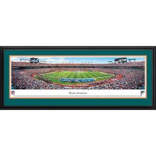 Blakeway Panoramas James Blakeway 'Miami Dolphins - 50 Yard Line' Framed NFL Print