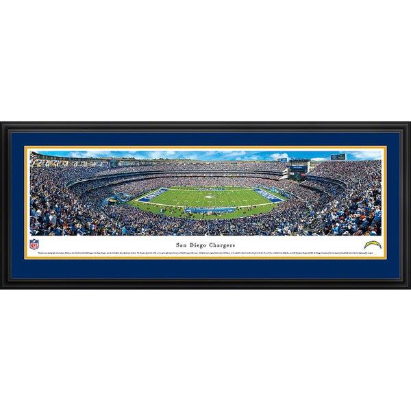Blakeway Panoramas San Diego Chargers '50 Yard Line' Framed NFL Print