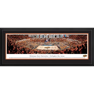 Blakeway Panoramas Oklahoma State Basketball Multicolored Framed Print