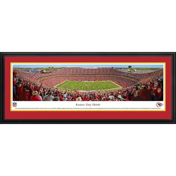 Blakeway Panoramas NFL Kansas City Chiefs '50 Yard Line Day' Framed Print