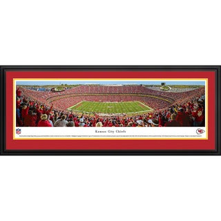 Blakeway Panoramas NFL Kansas City Chiefs '50 Yard Line Day' Framed Print
