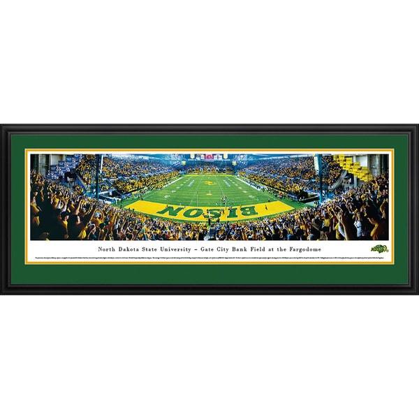 Blaeway Panoramas James Blakeway 'North Dakota State Football - End Zone' Framed Print
