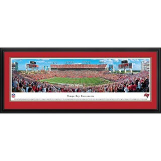 Blakeway Panoramas 'Tampa Bay Buccaneers - 50 Yard Line' Framed NFL Print