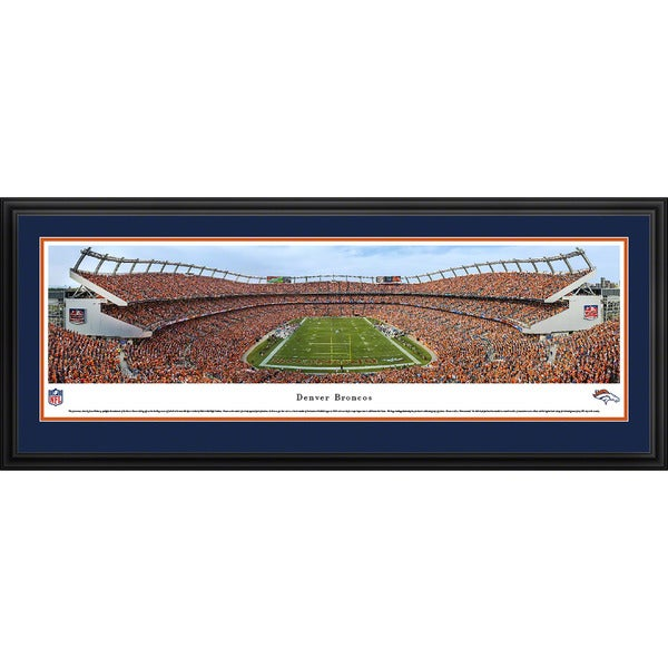 Blakeway Panoramas 'Denver Broncos - Mile High Stadium' Framed NFL Print
