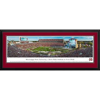 Mississippi State Football Blakeway Panoramas Framed Print (3 options available)