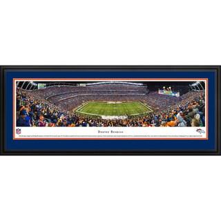 Blakeway Panoramas NFL Denver Broncos '50 Yard Line Night Game' Framed Print