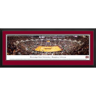 Blakeway Panoramas Mississippi State Basketball Framed Print