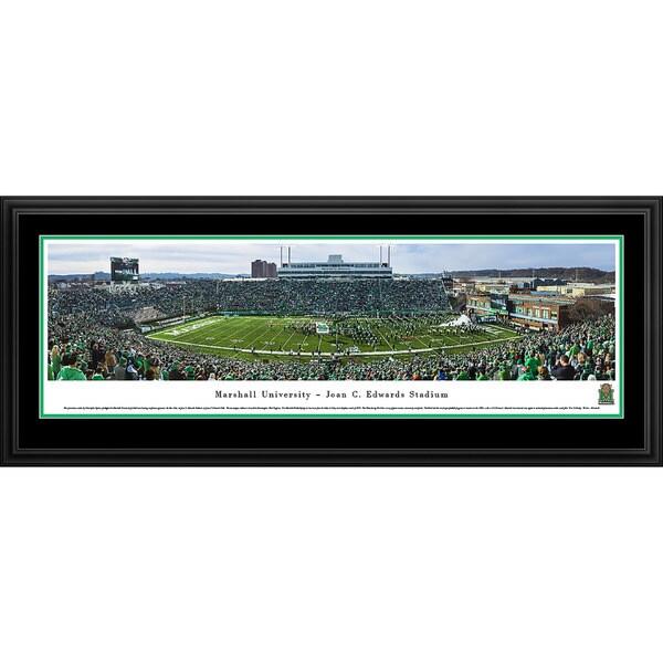 Blakeway Panoramas Marshall Football 50 Yard Line Framed Print